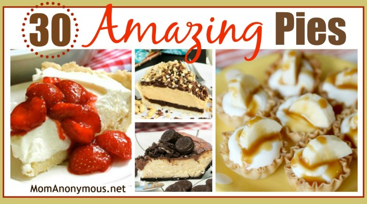 30 Amazing Pie Recipes!  #Pie #PiDay