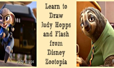 ZOOTOPIA is now playing in theaters everywhere! Learn to draw Judy Hopps and Flash #Zootopia