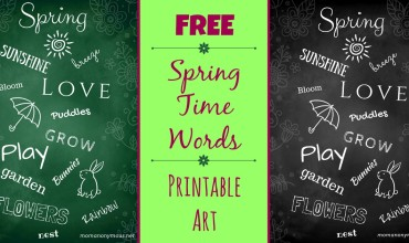 "Free ""Spring Time Words"" Printable – Makes Cute Wall Art!"