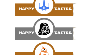 Free Printable Star Wars Easter Egg Wrappers!  #StarWars #EasterEgg
