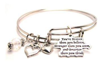 You're Braver Than You Believe Adjustable Wire Bangle